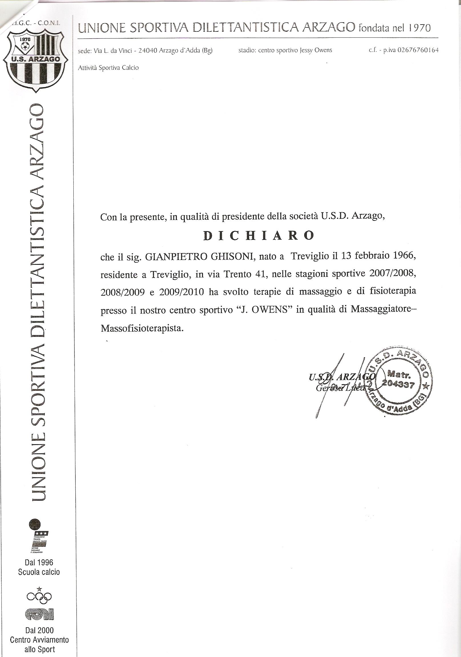 Ghisoni Gianpietro Curriculum Vitae